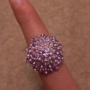 Purple studded ring